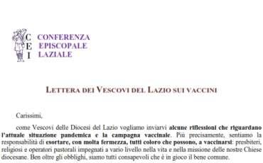 Comunicazione del Vescovo sulla pandemia